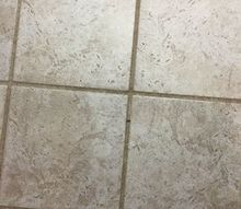 q how do you clean grout on a tile floor, cleaning tips, flooring, house cleaning, tiling, Dirty grout