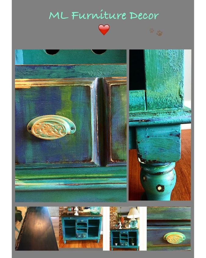 texture color and fairies , how to, painted furniture, Texture and color