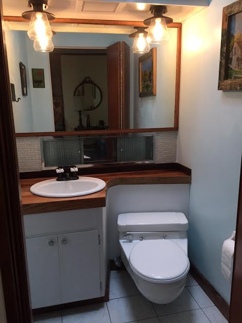 Redo Of Mid Century Modern Half Bathroom Hometalk