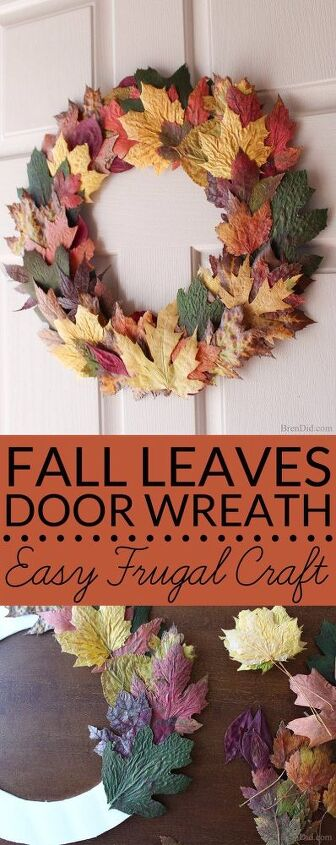 Cheap Spring Decorations: Cheap Easy DIY Fall Wreath With Fresh Leaves For $0