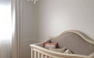nursery room makeover painted furniture, bedroom ideas, painted furniture, reupholster