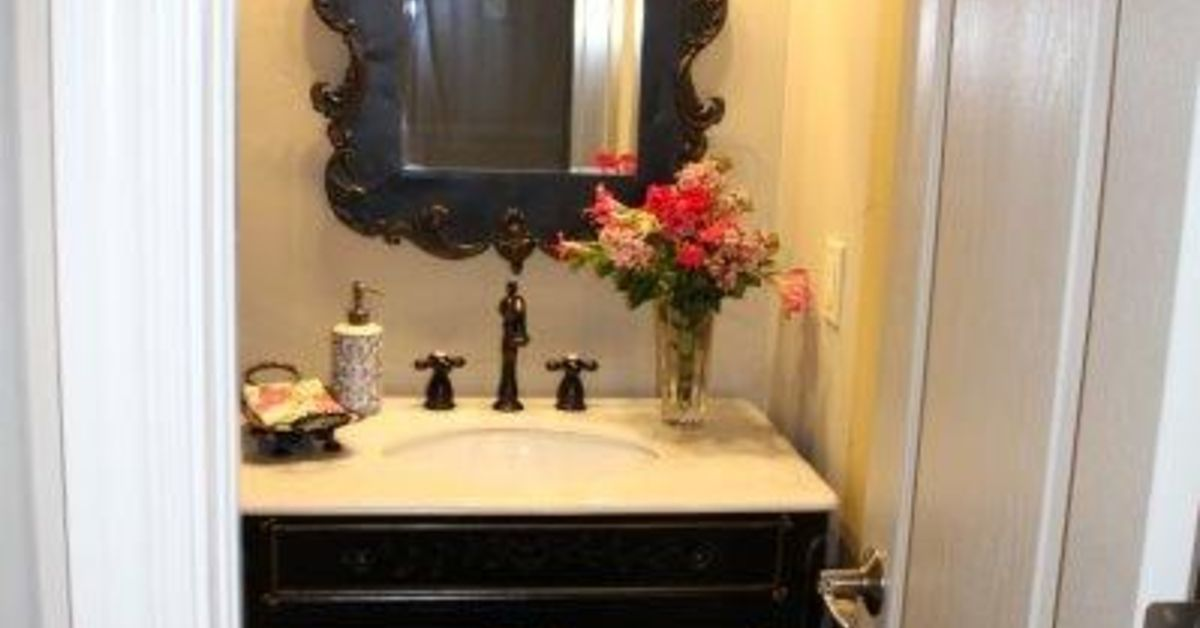 Updating A Powder Bath To Give It French Country Style