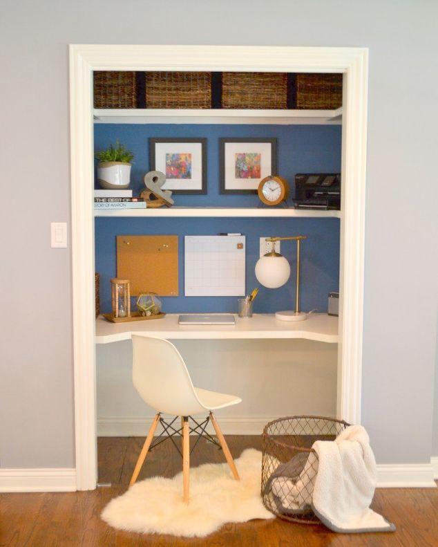 closet desk makeover hometalk