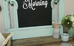 from headboard to chalkboard, chalkboard paint, crafts, how to, painting, repurposing upcycling
