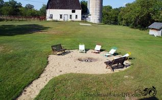 our beachy low maintenance backyard fire pit , go green, how to, outdoor living