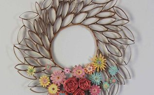 upcycle toilet paper rolls into this pretty wreath , crafts, how to, repurposing upcycling, wreaths