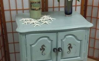 seahorse side table, how to, painted furniture