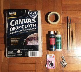 Drop Cloth Shower Curtain, Bathroom Ideas, Crafts, How To, Window Treatments