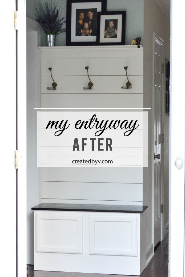 The weekender inspired entryway hometalk for Kitchen cabinets lowes with design own wall art
