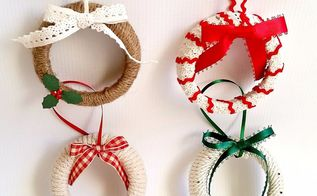 mason jar lid wreath ornaments, christmas decorations, crafts, mason jars, repurposing upcycling, seasonal holiday decor, wreaths