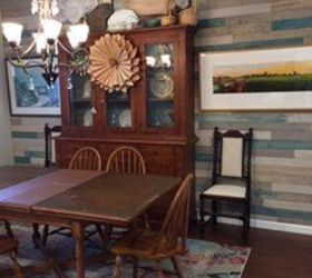 Planked Dinning Room Wall, Dining Room Ideas, How To, Wall Decor
