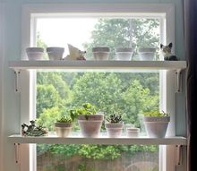 diy window plant shelves, container gardening, gardening, how to, shelving ideas