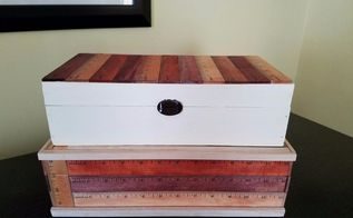 ruler boxes how to update a box using rulers, crafts, how to, painting, storage ideas