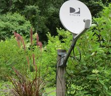 tv dish a garden eyesore, container gardening, gardening, how to, landscape, painting, repurposing upcycling