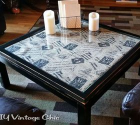 Captivating This Fabric Topped One With A Glass Cover Great Ideas