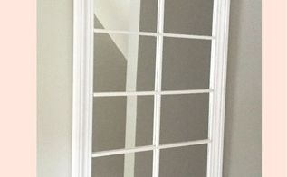 diy window pane mirror, crafts, how to, wall decor
