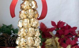 darth vader christmas tree, christmas decorations, crafts, how to, painting, seasonal holiday decor