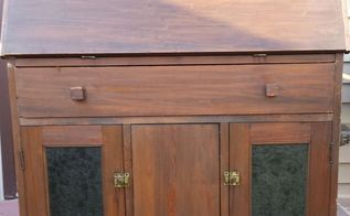 old secretary desk gets a bright makeover, painted furniture