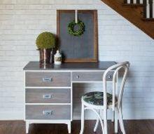restoration hardware inspired desk, painted furniture