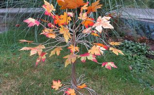 making a fall tree from wire, crafts, how to, seasonal holiday decor