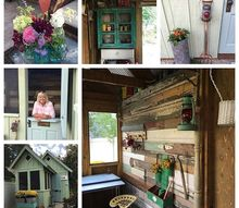 stepping inside hilltop cottage my she shed, outdoor living