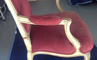 his her french chair makeover with a modern twist , furniture repair, how to, reupholstoring, reupholster