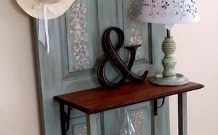old door transformed to hall tree coat rack , doors, repurposing upcycling