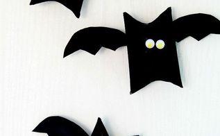 halloween bat toilet paper roll craft, bathroom ideas, crafts, halloween decorations, painting, repurposing upcycling, seasonal holiday decor