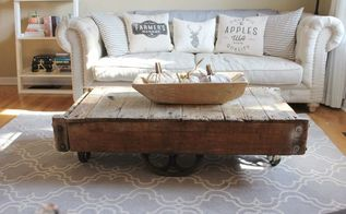 factory cart coffee table, painted furniture, repurposing upcycling