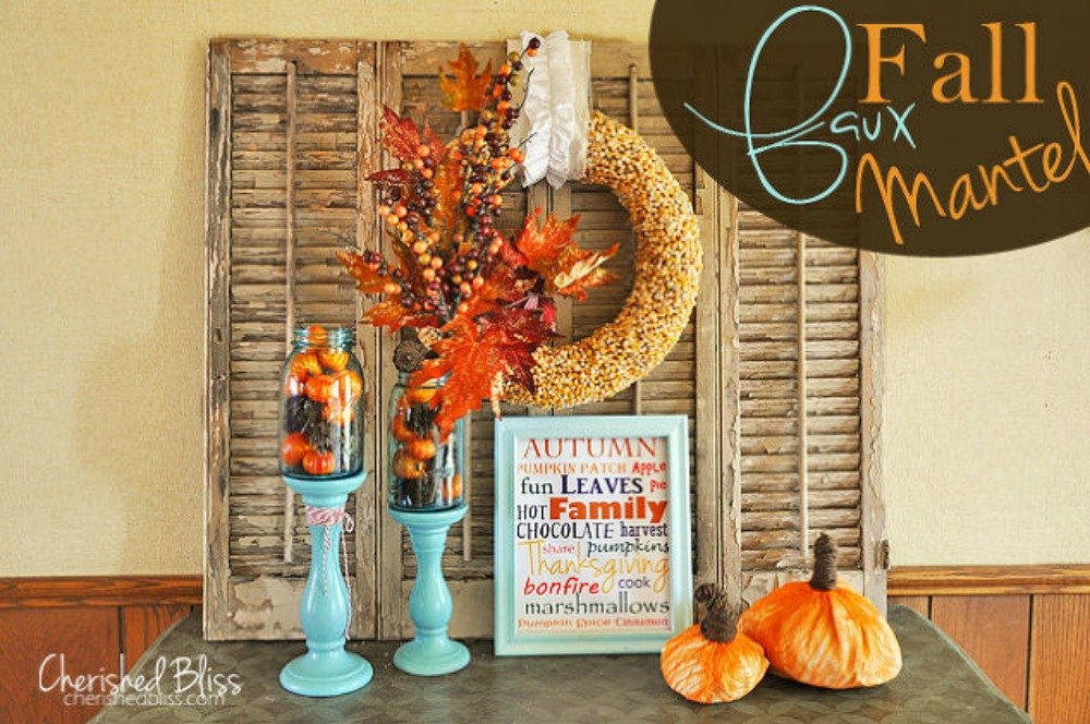 13 perfect fall mantel ideas for every style hometalk for Mantel display ideas