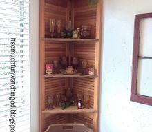 bi fold doors turned corner shelf, doors, how to, organizing, repurposing upcycling, shelving ideas, woodworking projects