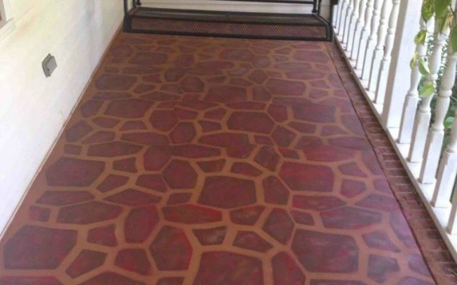 s 14 glamorous ways to upgrade your home using stencils, home decor, Paint your porch to look like smooth stone