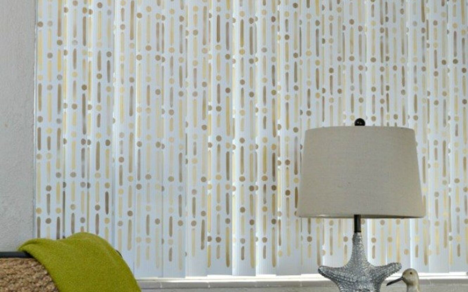 s 14 glamorous ways to upgrade your home using stencils, home decor, Redo your boring blinds into elegant shades