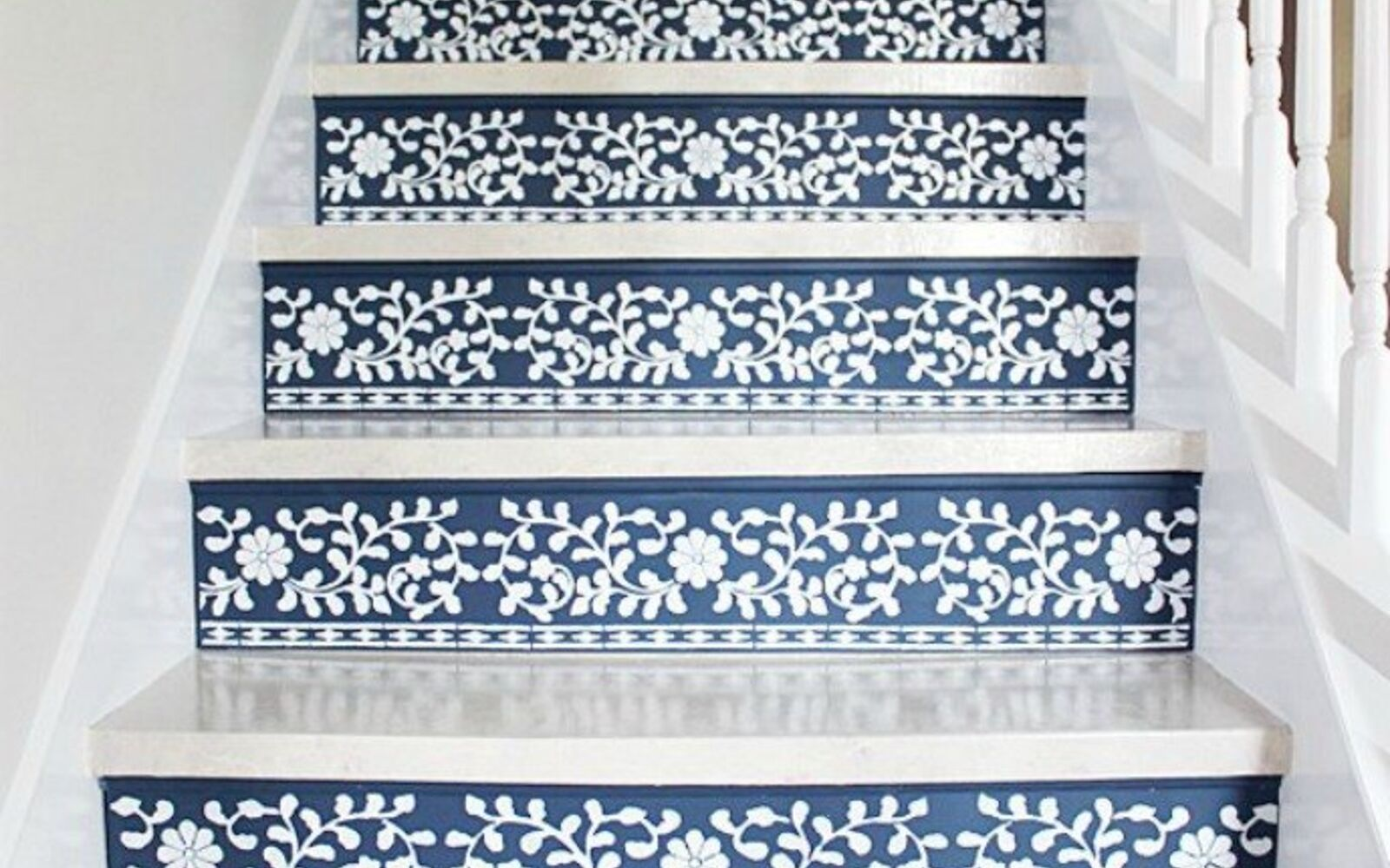 s 14 glamorous ways to upgrade your home using stencils, home decor, Make your stairs a show stopper