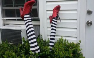 diy wicked witch legs, crafts, decoupage, halloween decorations, how to, seasonal holiday decor