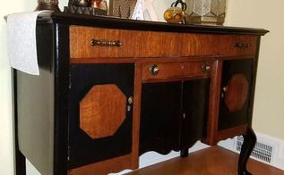 buffet makeover from sad to glorious , home decor, painted furniture