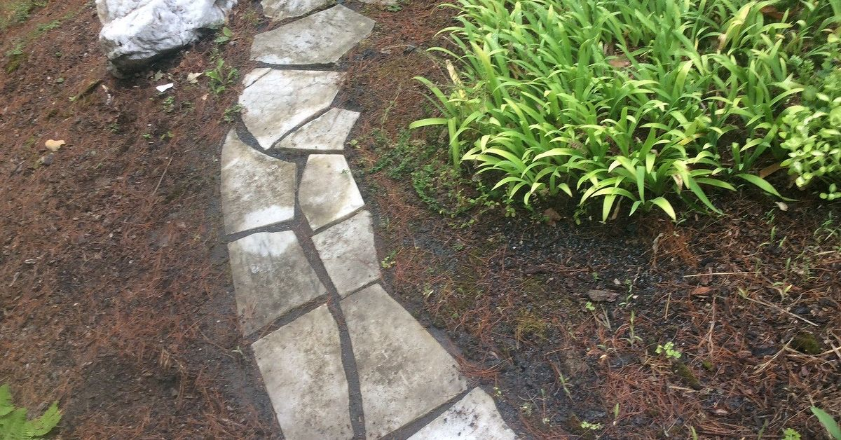 Cleaning marble slab walkway hometalk for How to clean concrete slabs