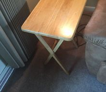 q ugly folding t v tables , chalk paint, painted furniture, painting wood furniture