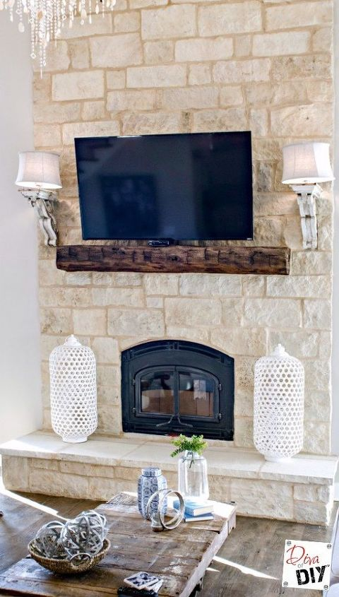 Fireplace Mantel how to build a fireplace mantel : Build a Mantel Out of an Old Barn Beam | Hometalk
