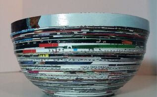 upcycled magazine paper catch all bowls, crafts, decoupage, fireplaces mantels, home decor, repurposing upcycling