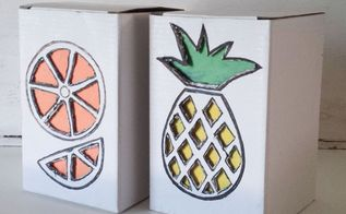 tropical fruit boxes diy, crafts, home decor, how to, repurposing upcycling