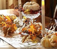 easy fall table centerpiece, home decor, seasonal holiday decor