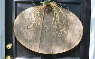 diy fall wreath burlap pumpkin, crafts, wreaths