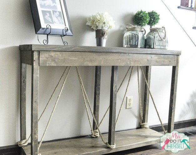 Build this entry table for less than 40 hometalk for All home decor furniture