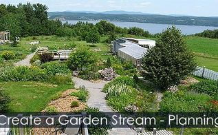 how to create a garden stream steps, gardening, how to, landscape, outdoor living, ponds water features, woodworking projects