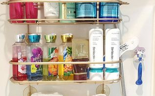 how to easily restore your rusty shower caddy to brand new, bathroom ideas, how to