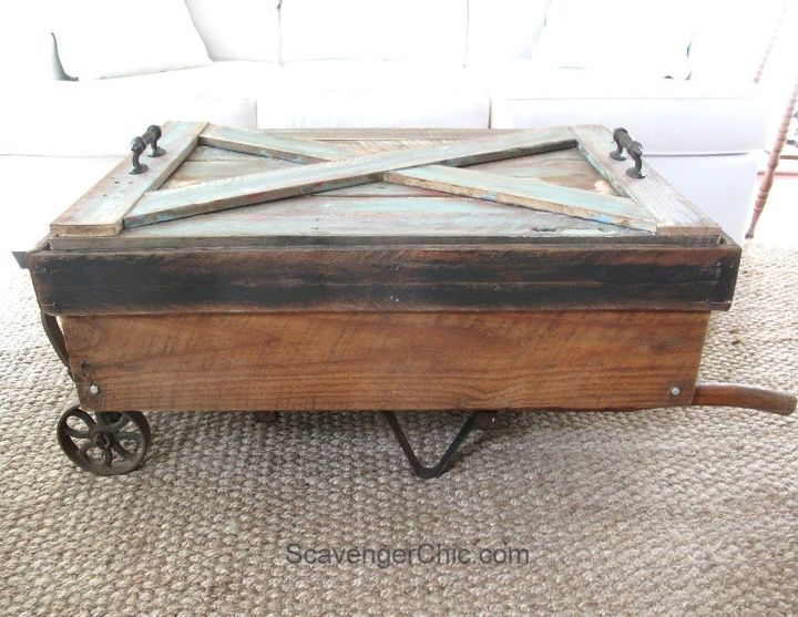 Upcycled Hand Cart Coffee Table Hometalk