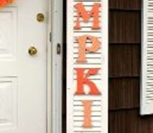 how to make a pumpkin sign out of an old shutter, crafts, how to, repurposing upcycling