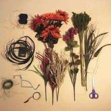 fall sunflower door hanger, doors, flowers, home decor, lighting