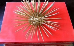 diy gold sea urchin, crafts, home decor, how to, painted furniture, painting, shelving ideas